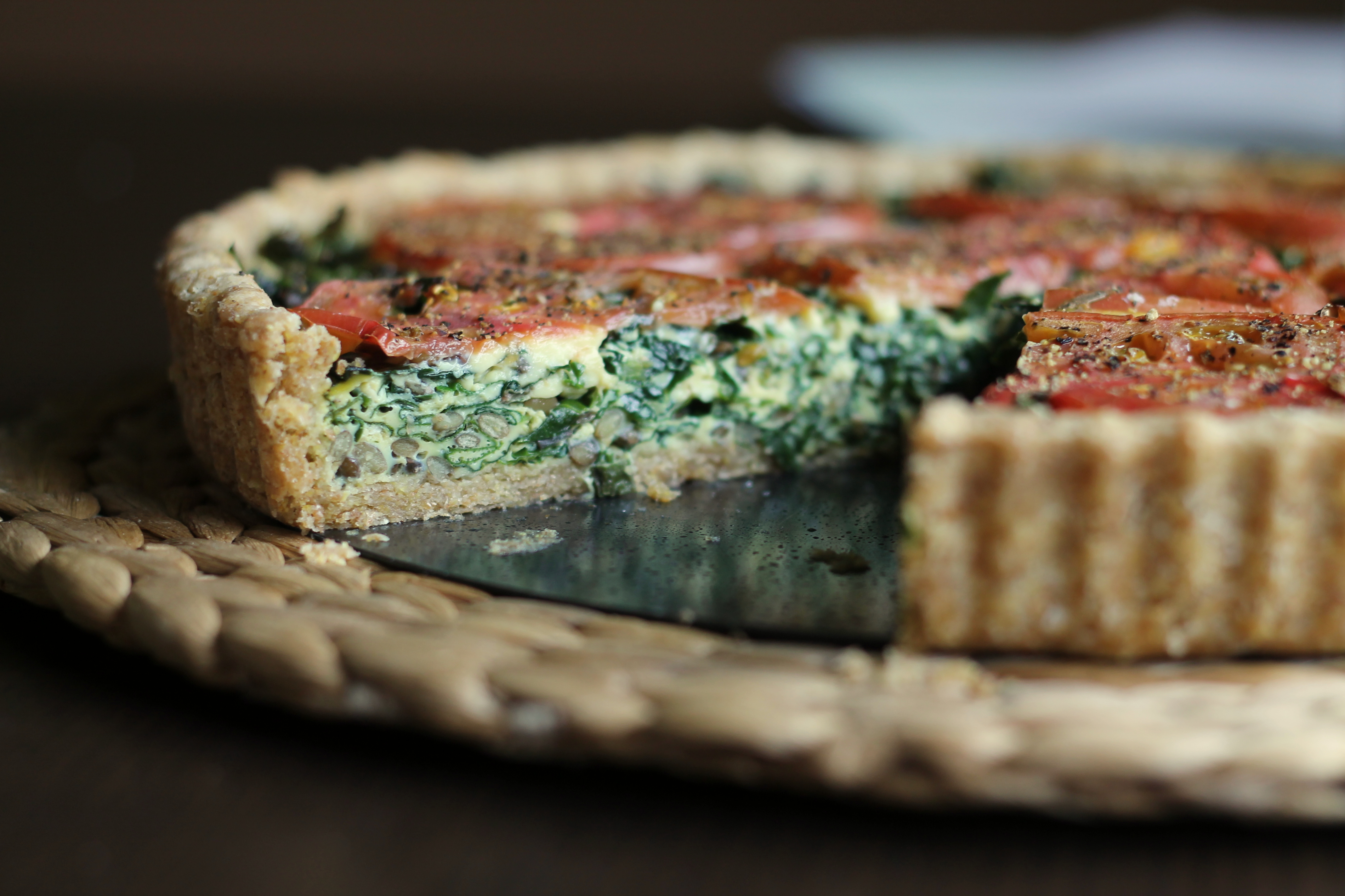 French Lentil and Kale Quiche | Rebecca Eats
